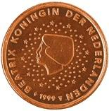 2 cents (other side, country Netherlands) 0.02